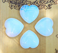 "Opalite Gemstone Heart Large . ""Stone of Eternity"". Meditation, Understanding, Removes Blockages"