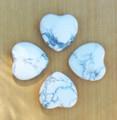White Howlite Gemstone Heart . Calming, Peace, Tranquility, Wisdom, Insomnia