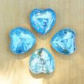Aqua Aura Gemstone Heart . Communication, Truth, Spirituality, Protection