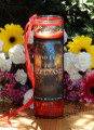 Sacred Flames of Beltane Glass Vigil Candle . Sacred Fertility Rites, Sexual Energy, Divination, Nature Spirit Works
