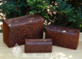 OM Carved Wooden Box Set of 3 . Indian Rosewood
