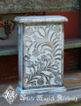 Floral Carved Mangowood Wooden Cupboard Chest
