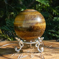 Tiger Eye Gold Crystal Gemstone Sphere 1.75 . Wealth, Money, Luck, Healing, Protection Against Dark Magic, Strength, Positive Energy