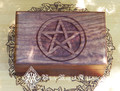 Pentacle Carved Box 4x6 . Indian Rosewood