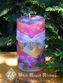 Faerie Worlds . Ambrosia Candle 2x3 . For Faerie Magick, Sight, Nature Spirit Workings, Joy, Play, Enchantment