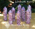 Lepidolite Standing Points . Mica . Anxiety, Stress, Peace, Calming Stone