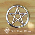 Pentacle Brass Altar Tile 3""