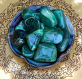 Malachite Tumbled Gemstone JUMBO . Crystal Gemstone Healing, Wisdom, Power, Strength, Blockages, New Beginnings