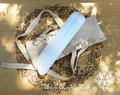 Selenite Gemstone Sword Wand Natural #14. Hand Carved Polished Blade with Buck Leather Pouch
