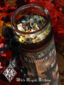 *All Hallows Eve Glass Vigil Candle . Samhain, Halloween, Ancestral Workings, New Beginnings, Witches New Year