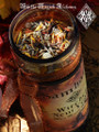 *Witches New Year Glass Vigil Candle . Samhain, Halloween, Ancestral Workings, New Beginnings