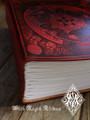 Witch Queen Book of Shadows . Bordeaux Red Leather Bound Large BOS 500 Blank Pages