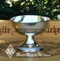 Triquetra Offering Chalice Scrying Bowl . Silver Plated