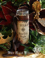 Yule Twelfth Night Glass Vigil Lights Candle . Christmas and Winter Solstice