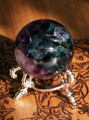 "Fluorite Sphere 2.5"" . Large AA Gem Top Quality . Psychic Shielding, Protection, Healing, Spiritual Enlightenment, Reduces Stress and Anxiety"