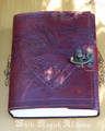 Celtic Heart Leather Blank Journal with Lock 6x8