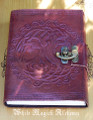 Tree of Life Leather Blank Journal with Lock 6x8