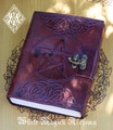 Pentacle Leather Blank Journal with Lock 5x7