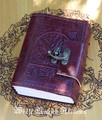 Tree of Life Small Blank Leather Journal with Lock 3.5x5
