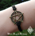 Pentacle Bracelet in Bronze
