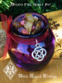 Brigid's Fire . Imbolc Honey Heartwood Resin Pot