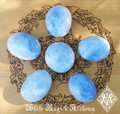 Blue Calcite Jumbo Crystal Gemstone Palm Stones . Healing, Anxiety, Stress Immune, Focus