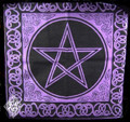 Pentacle Tote Bag . Purple