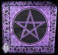 Pentacle Tote Bag Purple Black Wicca Pagan