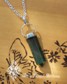 Bloodstone Point Pendulum Necklace . Healing, Justice