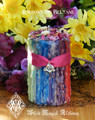 Ribbons of Beltane Alchemy Candles . Flora and Faeries . Flowers, Sandalwood, Musk, Moss, Sacred Fertility Rites, Nature Spirits