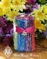 Beltane Candle Ribbons of Beltane Wicca