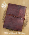Pentacle Flower Weaved Leather Blank Journal with Cord 5x7