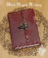 Leather Journal Grimoire Small Book of Shadows with Lock 3.5x7