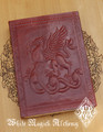 Griffin Leather Blank Journal Grimoire with Cord 5x7