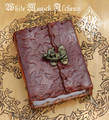 Flora and Vine Leather Journal Grimoire Small Book of Shadows with Lock 3.25x5