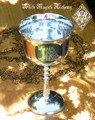 Triquetra Silver Plated Chalice Goblet Cup