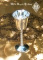Triquetra Silver Pentacle Chalice Goblet Cup