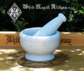 White Stone Mortar & Pestle White Witch