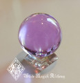 "Magenta Magic Crystal Ball 2"" Water Clear, Quick Changes, Healing, Success"