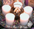 Sacred Candle Wheel for Fire Festivals Set of 5 . Choose Your Sabbat/Holiday