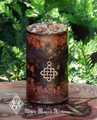 Nine Sacred Woods Herbal Alchemy Candle for Celtic Druid Workings, Fertility, Abundance, Protection