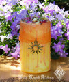 Pretty Little Litha Alchemy Candle . Summer Solstice