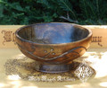 Wooden Offering Bowl Vine & Floral