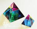 Rainbow Iridescent Pyramids
