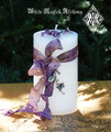 White Oleander Spell Candle for Warding, Reversing, Ridding Baneful Forces, Protection