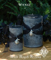 Wicked Witch Pillar Candles for Samhain and Halloween