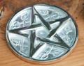 "SALE - Pentacle Altar Tile 3"" Silver"