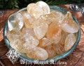 Citrine Tumbled Gemstones . Medium Set of Two . Success, Business, Prosperity, Luck, Healing, Clearing and Absorbing Negative Energies