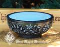 Floral Witches Garden Black Stone Offering Bowl, Cauldron, Incense Burner
