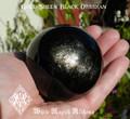 Black Obsidian GOLD SHEEN Gemstone Sphere 2.25 . Protection, Negativity, Stress,